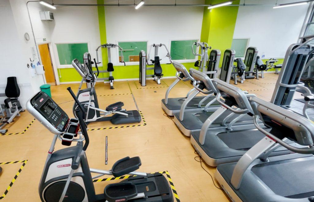 inside of St Albans community gym